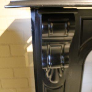 Schouw Antico 8147 Antieke zwart marmeren ombouwschouw