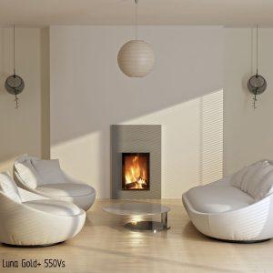 M-design Luna Gold+ 550VS houtkachel